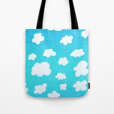 Happy Little Clouds Tote Bag