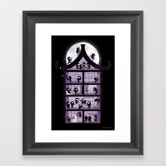 A House full of Ninjas Framed Art Print