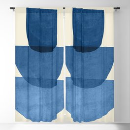 Abstract Shapes 37-Blue Blackout Curtain