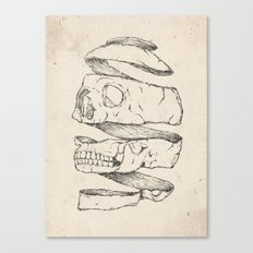 Twister Skull Canvas Print