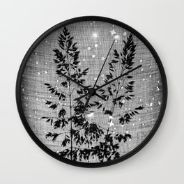 Delicate grasses - light and shadow #2 Wall Clock