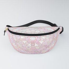 Light Coral and White Mandala Fanny Pack