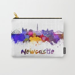 Newcastle skyline in watercolor Carry-All Pouch