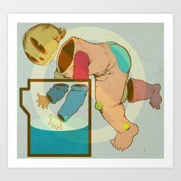 Baby Bucket Art Print