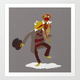 Kermit Christmas Carol Art Print