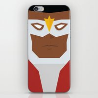 falcon iPhone & iPod Skins featuring Falcon by Shakeel