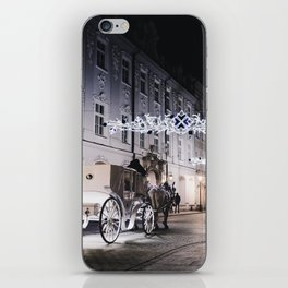 Winter Horse Carriage Ride (Color) iPhone Skin