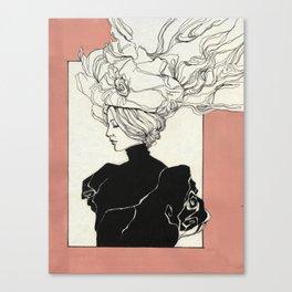 Vintage lady Canvas Print