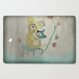 Vintage Whimsical Christmas Cutting Board