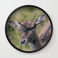 bambi Wall Clocks featuring Bambi by Kalbsroulade