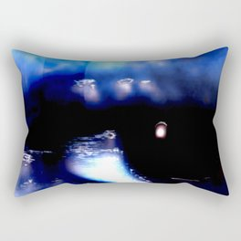 Blue Eyed Confusion Rectangular Pillow