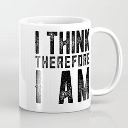 I think therefore I am - on white Coffee Mug