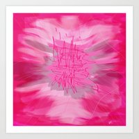 poem Art Prints featuring pink poem  by sladja