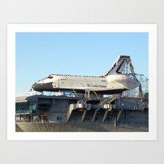 Space Shuttle Enterprise, Intrepid Aircraft Carrier, New York City Art Print