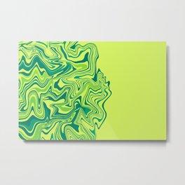 Green Lime Agate Metal Print