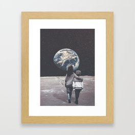Back to Hometown Framed Art Print