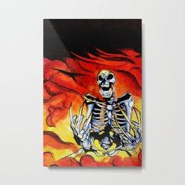Skeleton Wolv-erine Metal Print