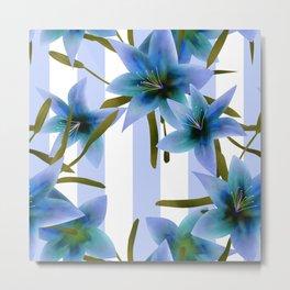 Blue lilies . Metal Print