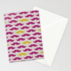 Mustache pattern Stationery Cards