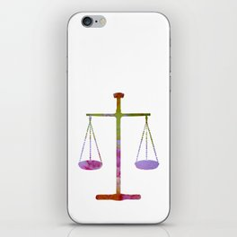Scales of justice iPhone Skin