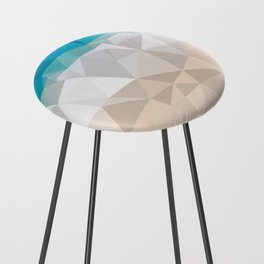 Low poly beach Counter Stool