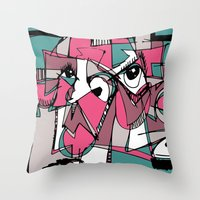 sneaker Throw Pillows featuring Sneaker Guy by 5wingerone