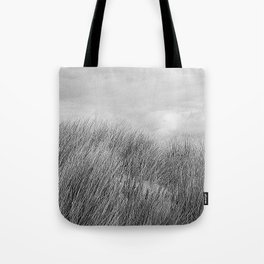Beach grass - black and white Tote Bag