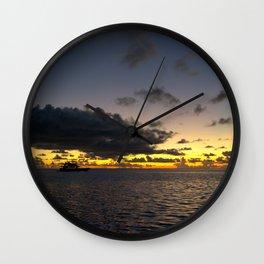 Maldivian Sunset 2 Wall Clock