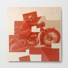 Motorcycle Race II Metal Print