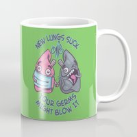 lungs Mugs featuring New Lungs by Artistic Dyslexia