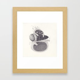 Calcifer Framed Art Print