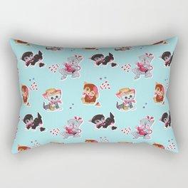 Zombie Cats Rectangular Pillow