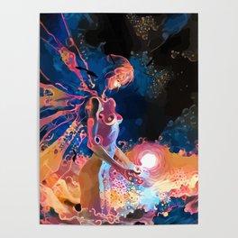 Rei Ayanami Angel Form-Evangelion Poster