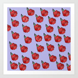 Traditional Style Red Roses Art Print