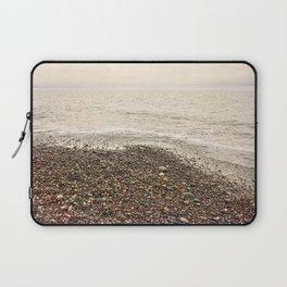 Dungeness Shoreline, Pebble Beach, Washington Seascape, Juan de Fuca, Coastal Photography Laptop Sleeve