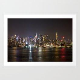 City of Bright Lights New York, New York Art Print