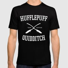 Hogwarts Quidditch Team: Hufflepuff Mens Fitted Tee Black LARGE
