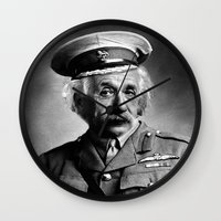 general Wall Clocks featuring General Knowledge by GingerRogers