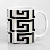 greek Mugs featuring Greek Key by Charlene McCoy