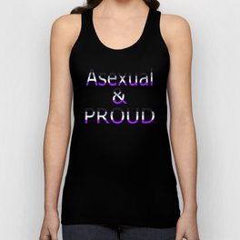 Asexual and Proud (black bg) Unisex Tank Top