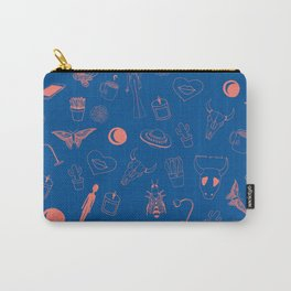 Blue Eclectic Pattern Carry-All Pouch