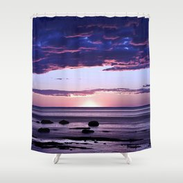 Coastal Sunset Sainte-Anne-Des-Monts Shower Curtain