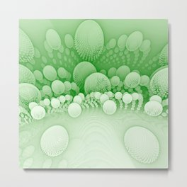 Sub-Orbit (emerald shoots) Metal Print