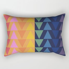 Day and Night Rainbow Triangles Rectangular Pillow