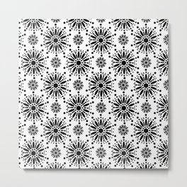 Star Snow Flake Mehndi Henna Metal Print