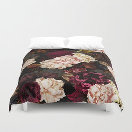 Vintage & Shabby Chic - Midnight Rose and Peony Garden Duvet Cover
