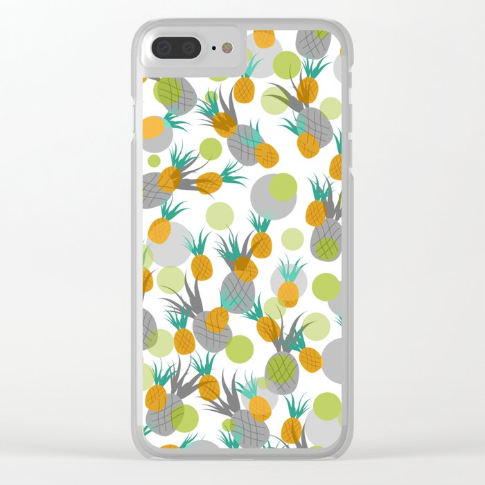 Pineapple Storm Clear iPhone Case