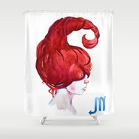 scorpio Shower Curtains featuring Scorpio by Aloke Design