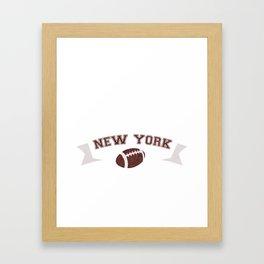 Just a Baller from New York Football Player Framed Art Print