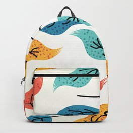 Colorful Autumn Leaves Illustration Backpack